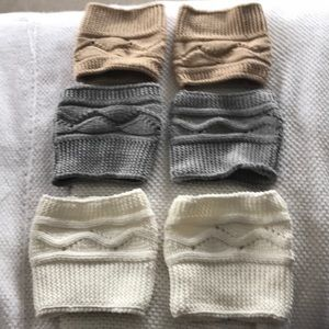 Shoes - 3 leg  warmer/boot  cuffs multiple colors